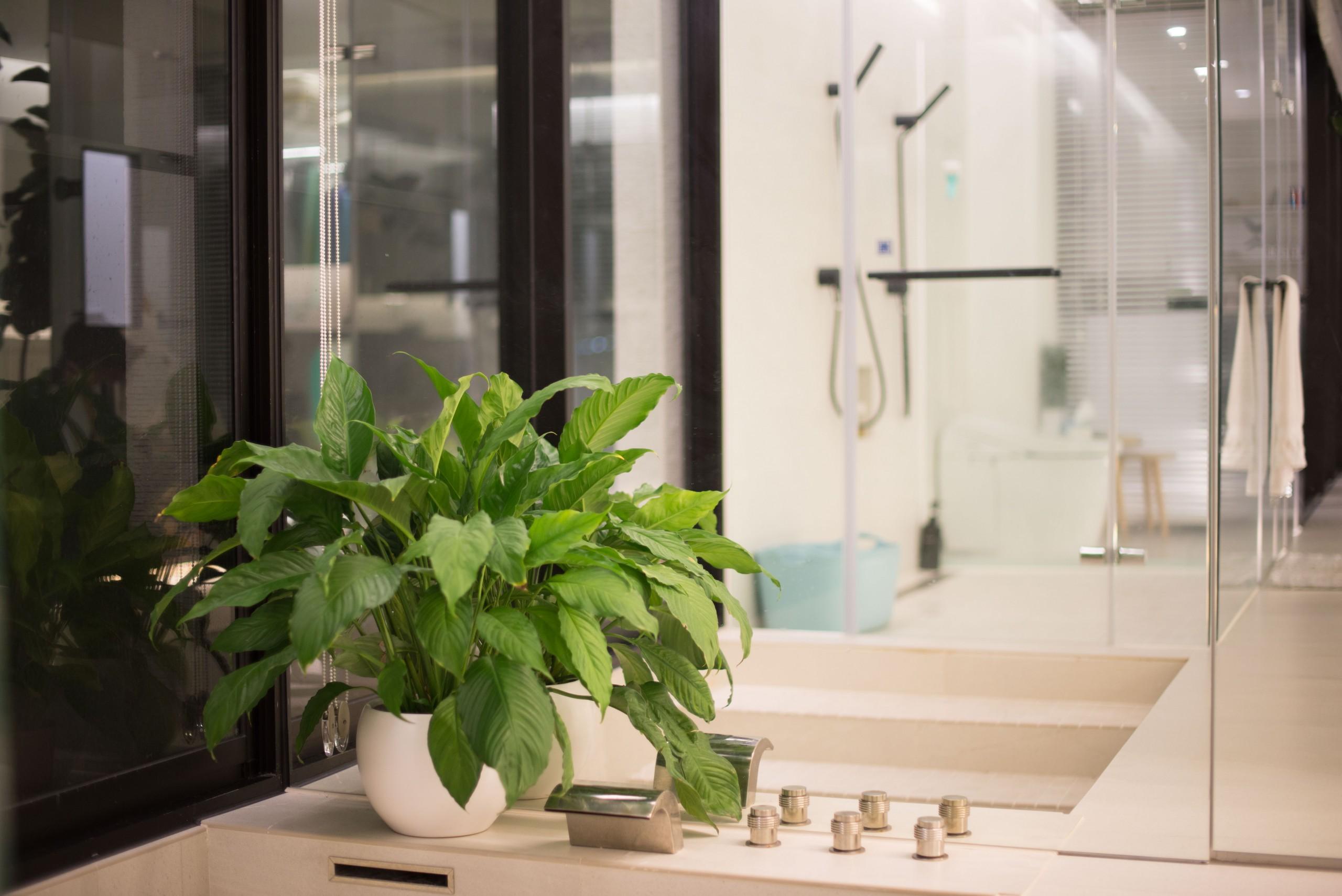 ©降板式浴缸節省了浴室空間