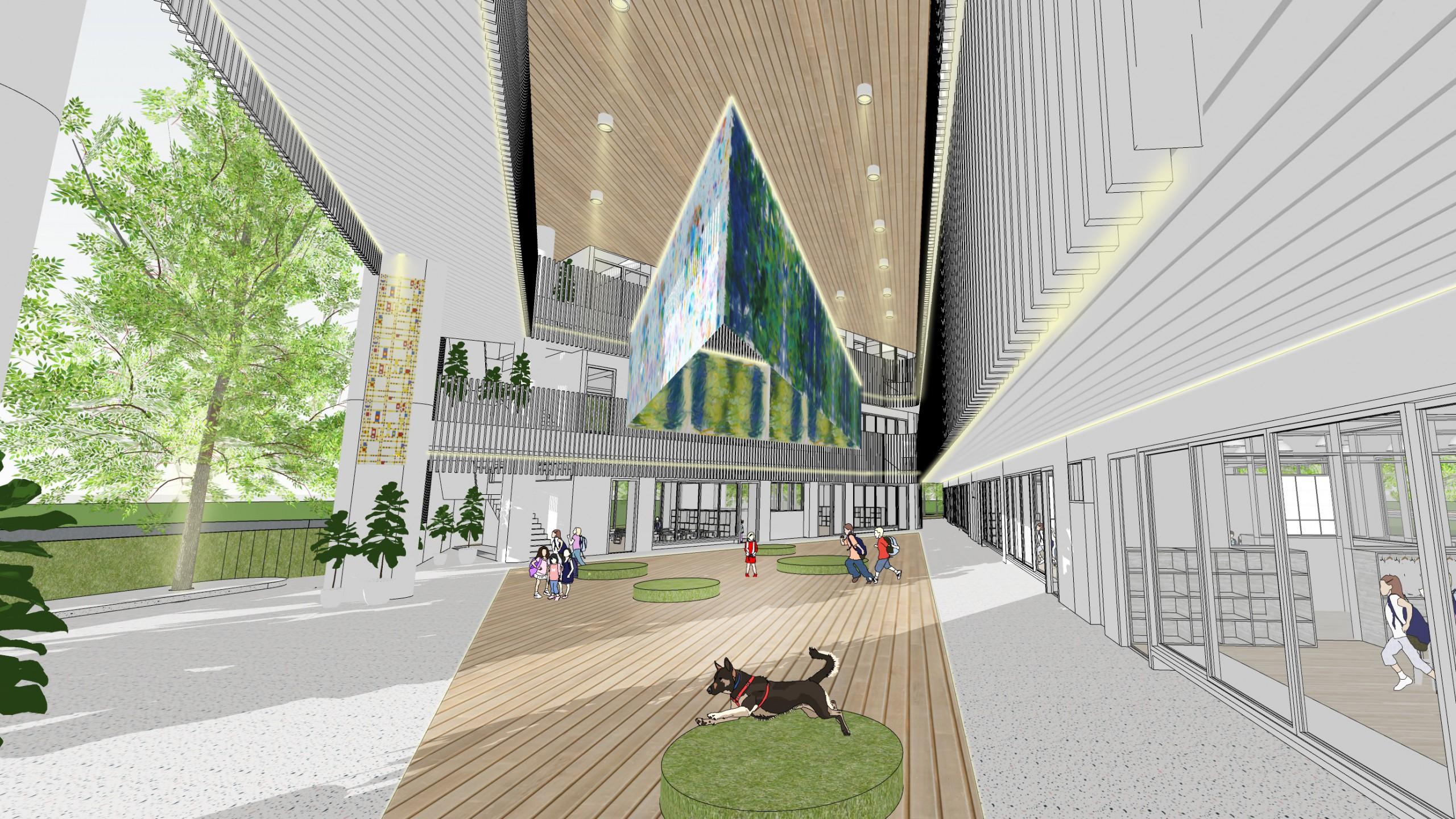 德築-DEZU-project-淡海大芽幼兒園-architecture-3Drendering